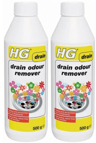 HG 624050106 Drain Odour Remover 500g 10 treatments 2 pack